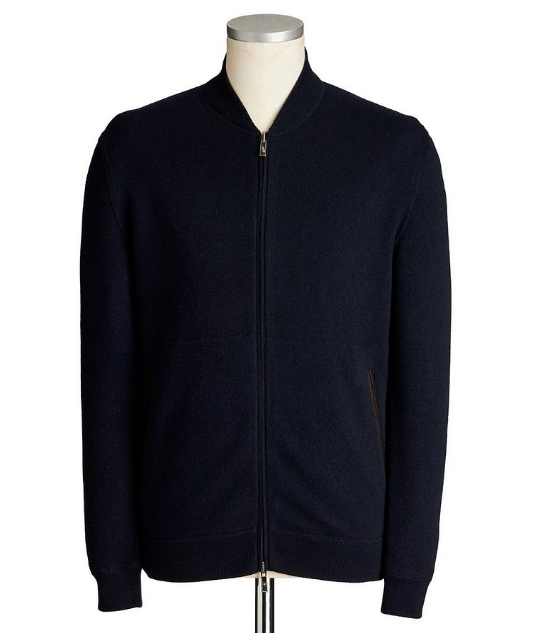Reversible Cashmere Zip-Up Sweater image 0
