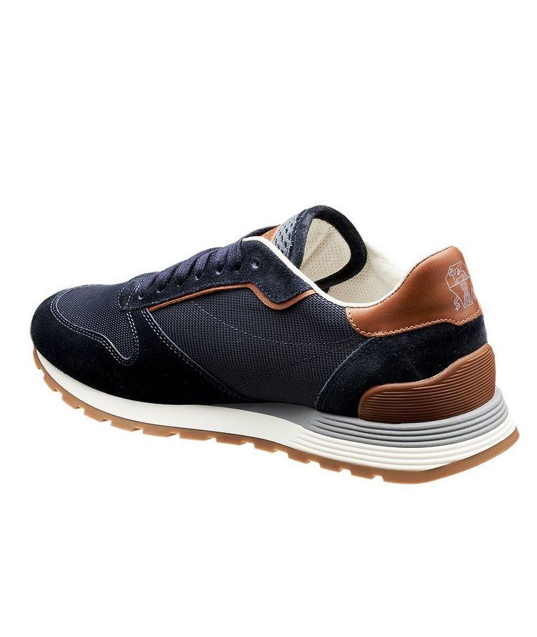 Chaussure sport en suède et filet image 1