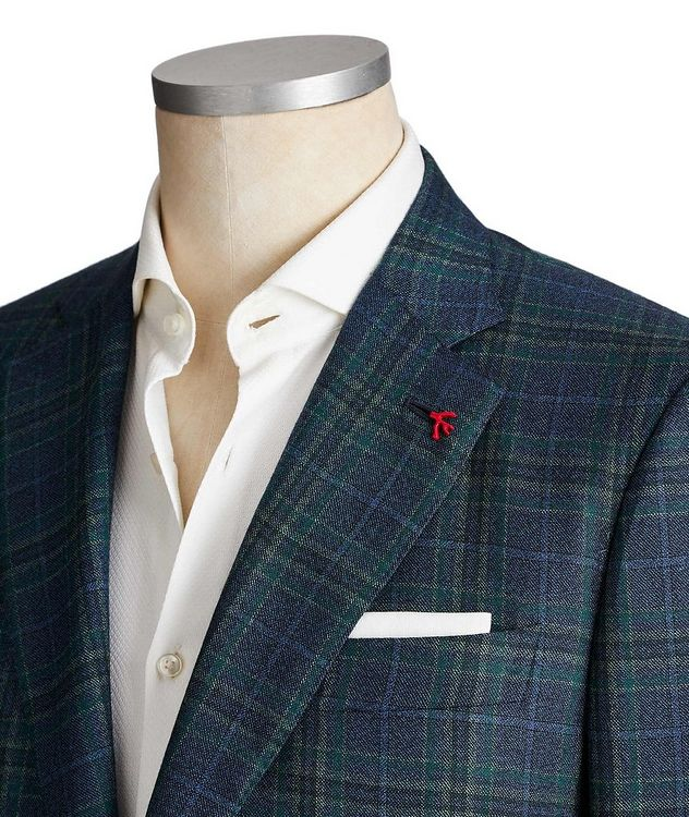Tartan Check Cashmere Sports Jacket picture 2