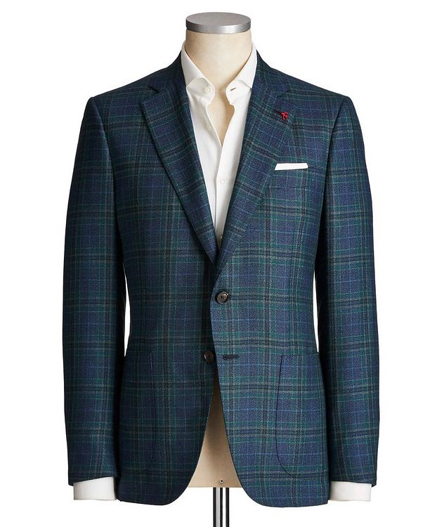 Tartan Check Cashmere Sports Jacket picture 1