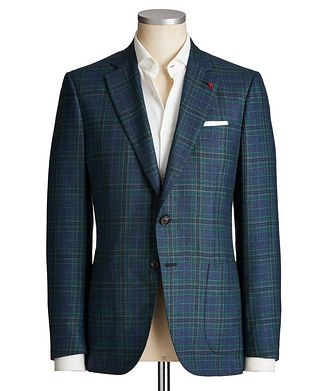 Isaia Tartan Check Cashmere Sports Jacket