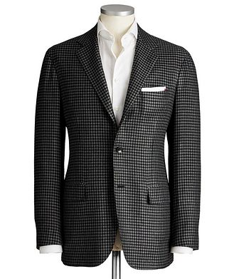 Kiton Contemporary Fit Wool-Silk Sports Jacket
