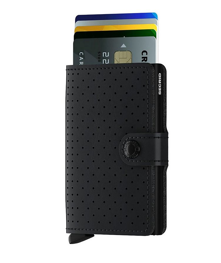 Perforated Leather Miniwallet image 1