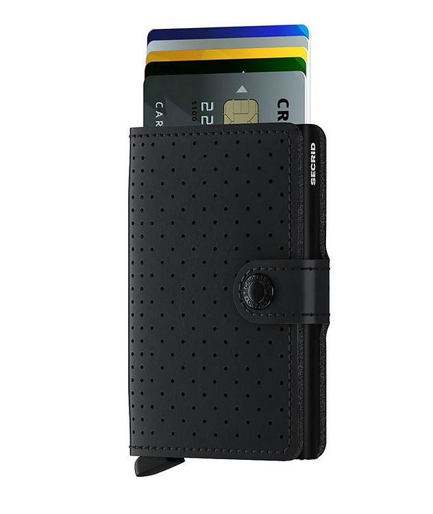 Perforated Leather Miniwallet picture 2