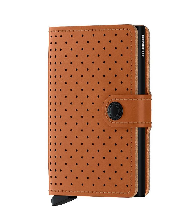 Perforated Leather Miniwallet image 0