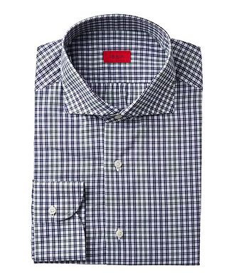Isaia Contemporary Fit Checked Dress Shirt
