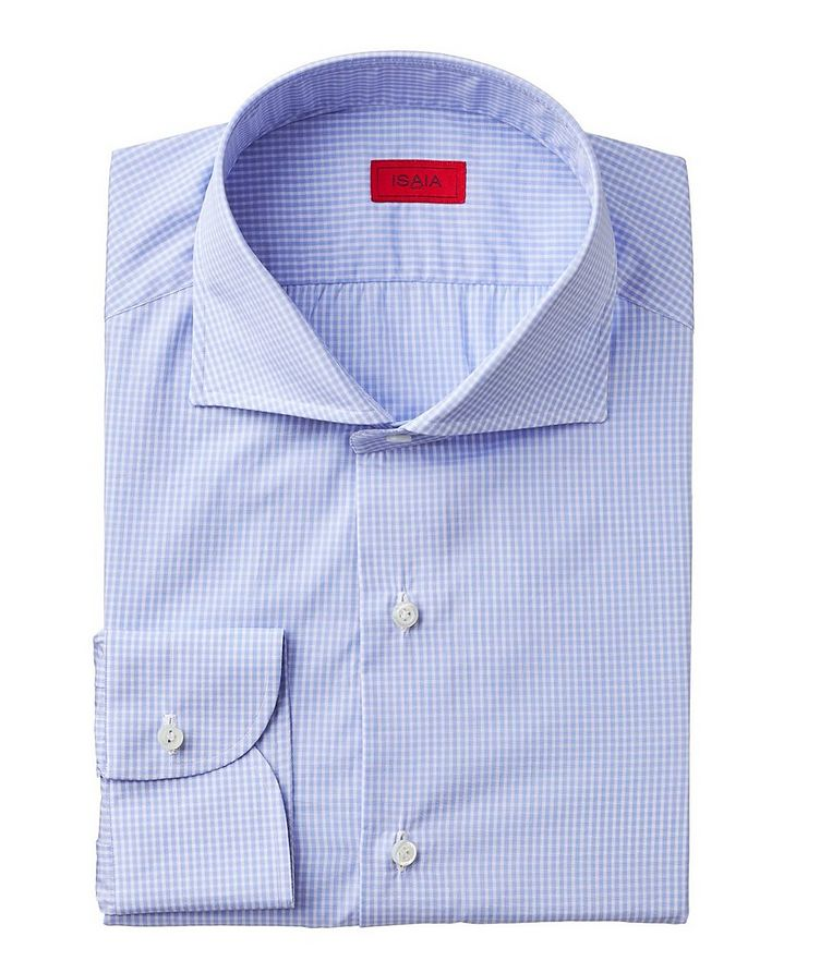 Contemporary Fit Gingham-Printed Dress Shirt image 0