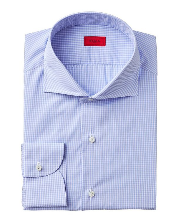 Contemporary Fit Gingham-Printed Dress Shirt picture 1