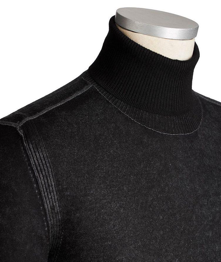 Marled Cashmere-Silk Turtleneck image 1