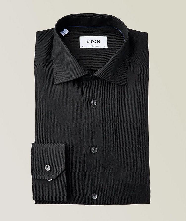 Contemporary Fit Diagonal Weave Dress Shirt image 0