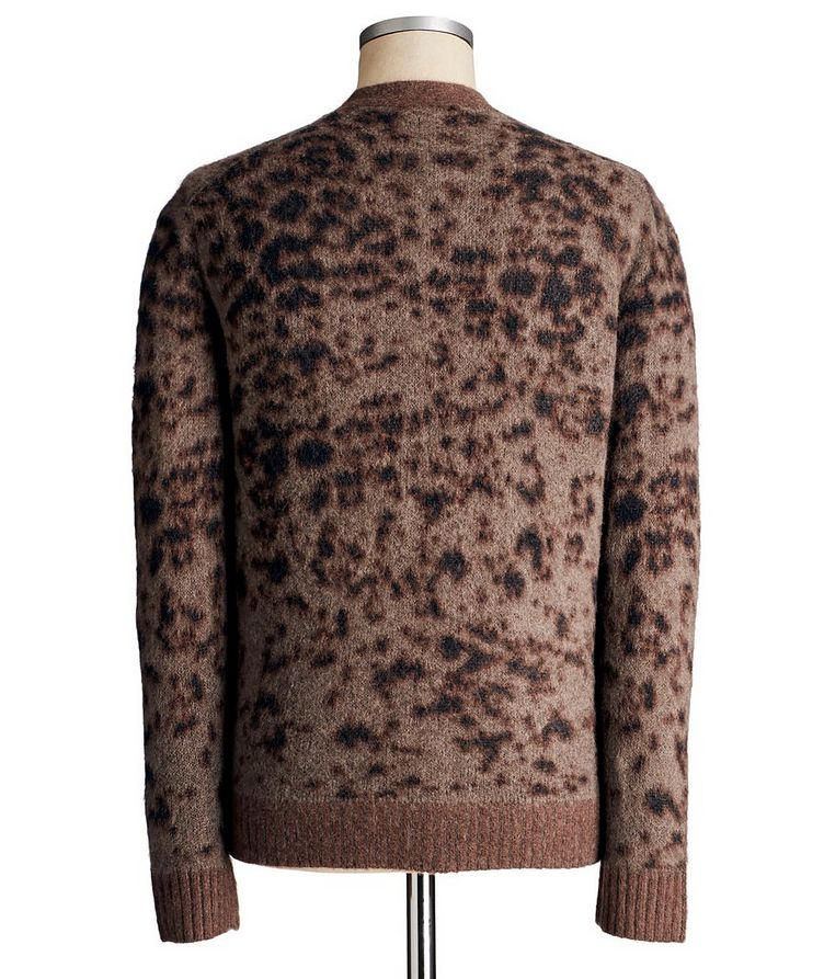 Wool-Cashmere Animal Print Cardigan image 1