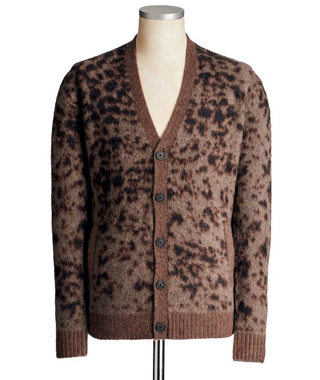Wool-Cashmere Animal Print Cardigan picture 1