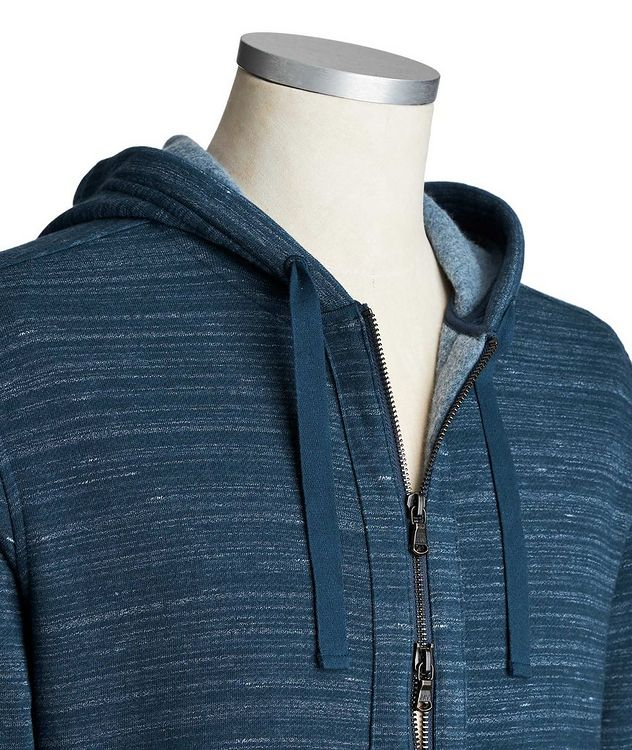 Zip-Up Cotton-Blend Hoodie picture 3