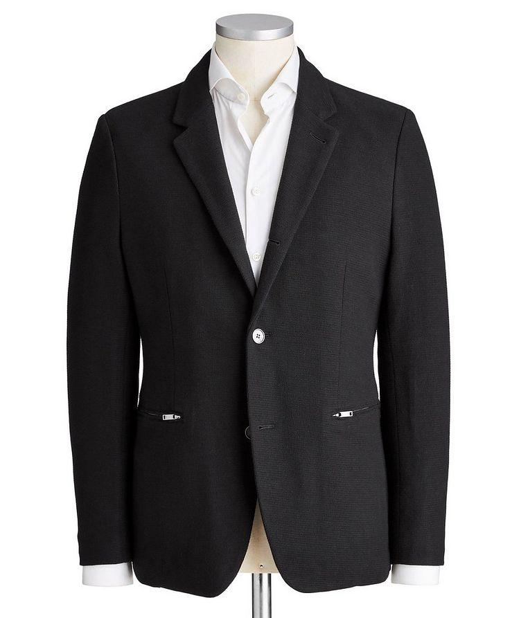 Contemporary Fit Cotton-Blend Sports Jacket image 0
