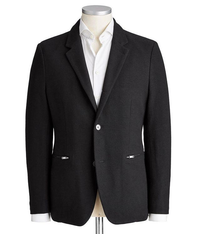 Contemporary Fit Cotton-Blend Sports Jacket picture 1