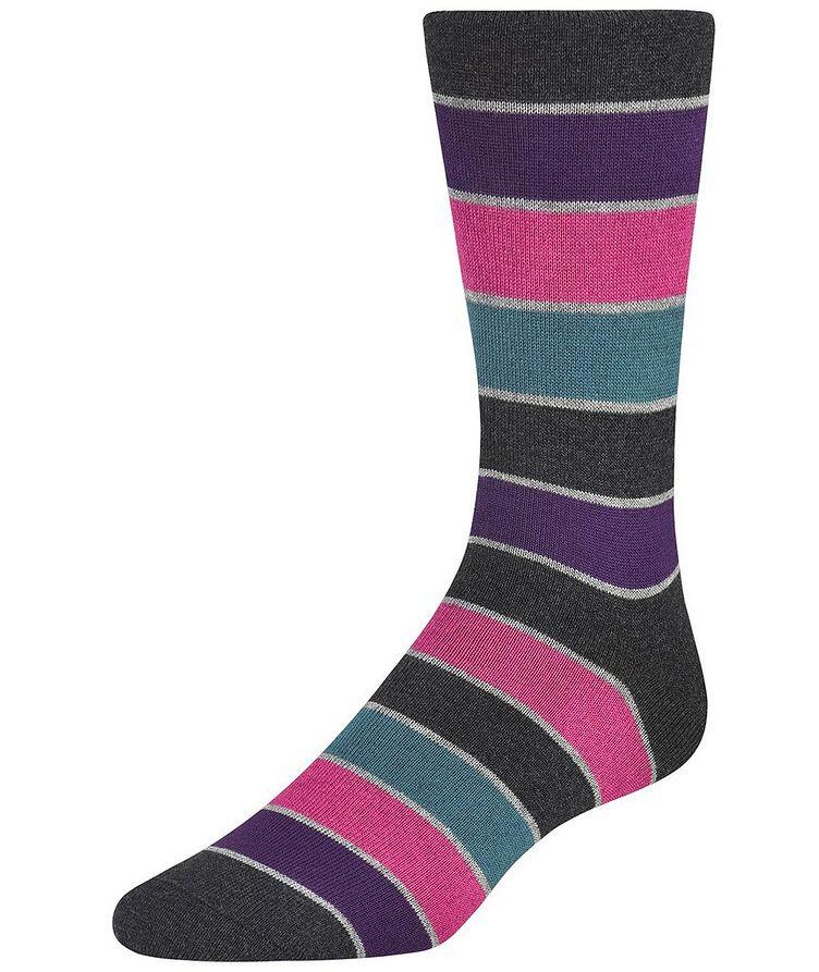 Striped Cotton-Cashmere Blend Socks image 0