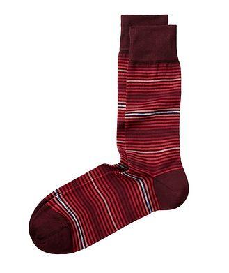 Bugatchi Striped Cotton Socks