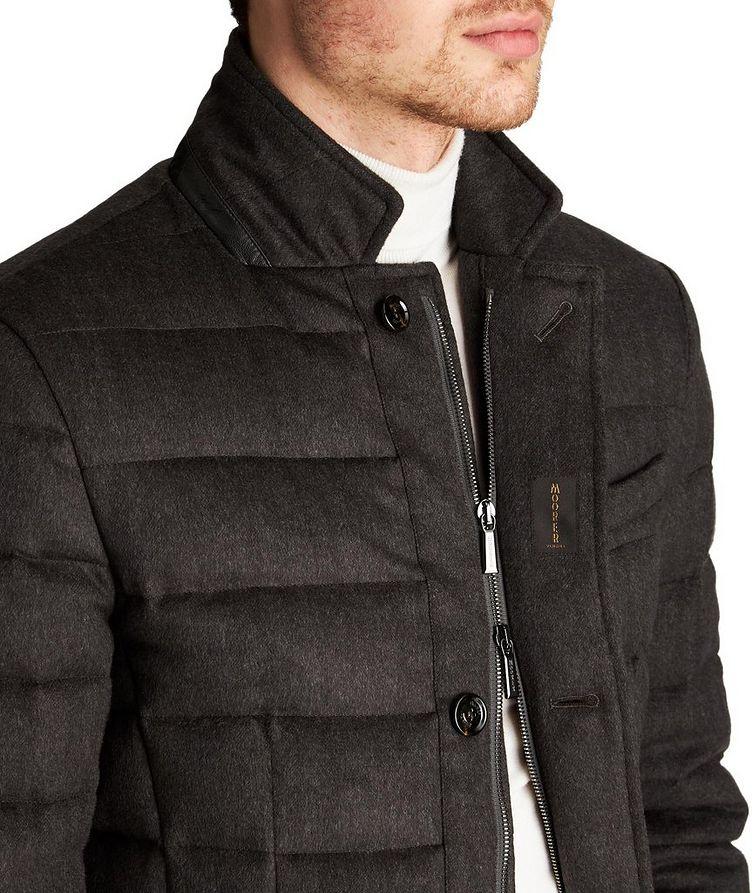 Manteau surpiqué Zayn en laine et cachemire image 2