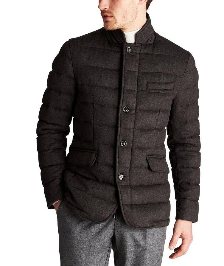 Manteau surpiqué Zayn en laine et cachemire image 0