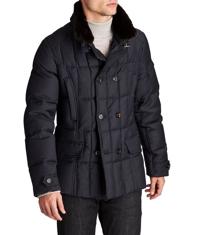 Siro Double-Breasted Down Coat picture 1