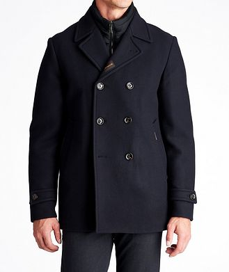 Moorer Bolgi Double-Breasted Down Peacoat