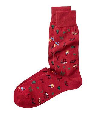 Bugatchi Hodge Podge Cotton Socks