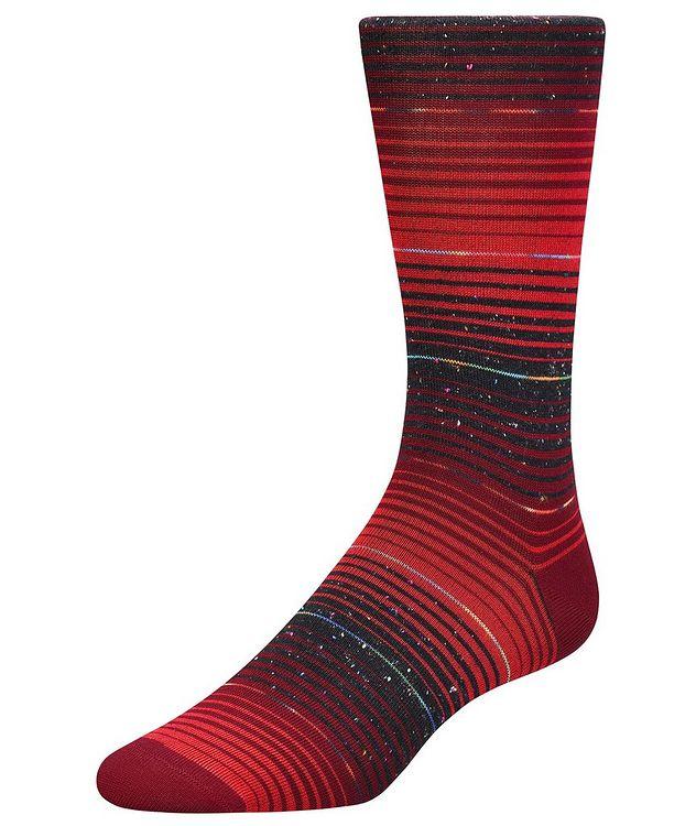 Speckled Striped Cotton-Blend Socks picture 1