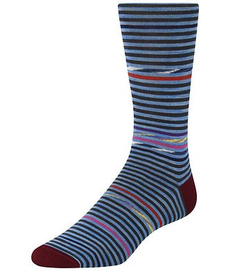 Bugatchi Striped Cotton-Blend Socks