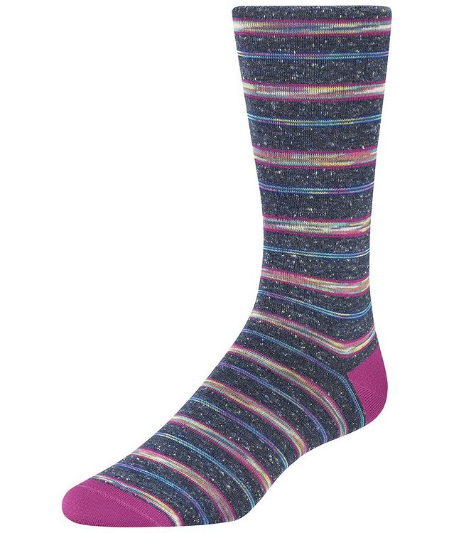 Striped Cotton-Blend Socks picture 1