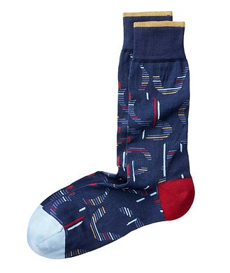 Bugatchi Printed Cotton Socks