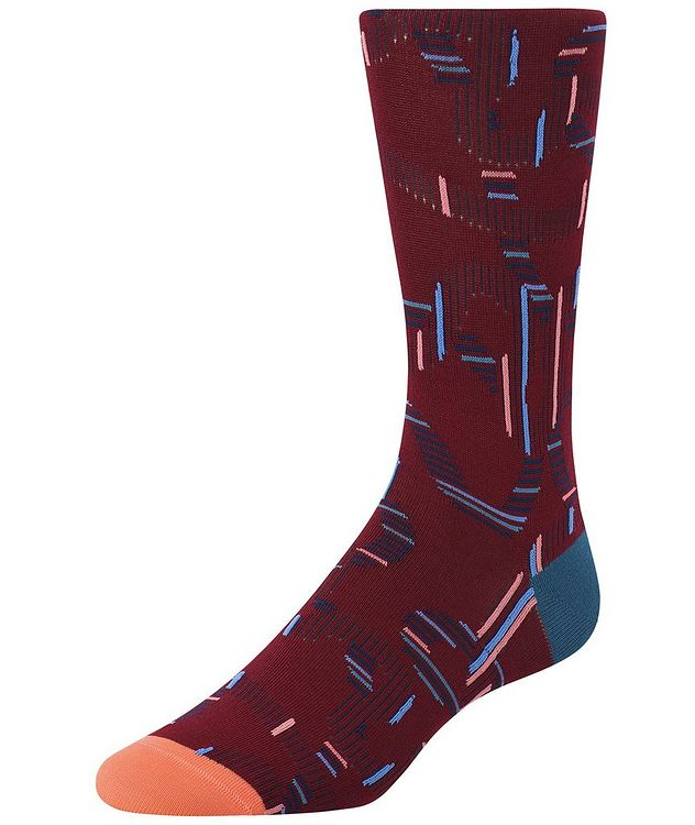 Ribbon-Printed Cotton-Blend Socks picture 1