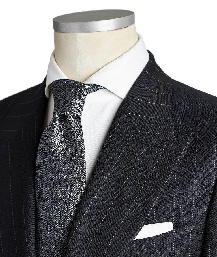 Shelton Pinstriped Wool-Silk Suit image 1