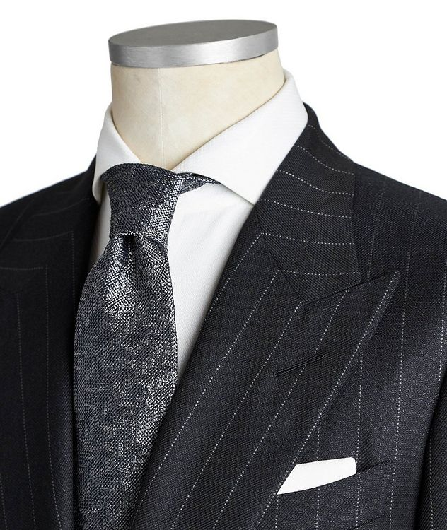 Shelton Pinstriped Wool-Silk Suit picture 2