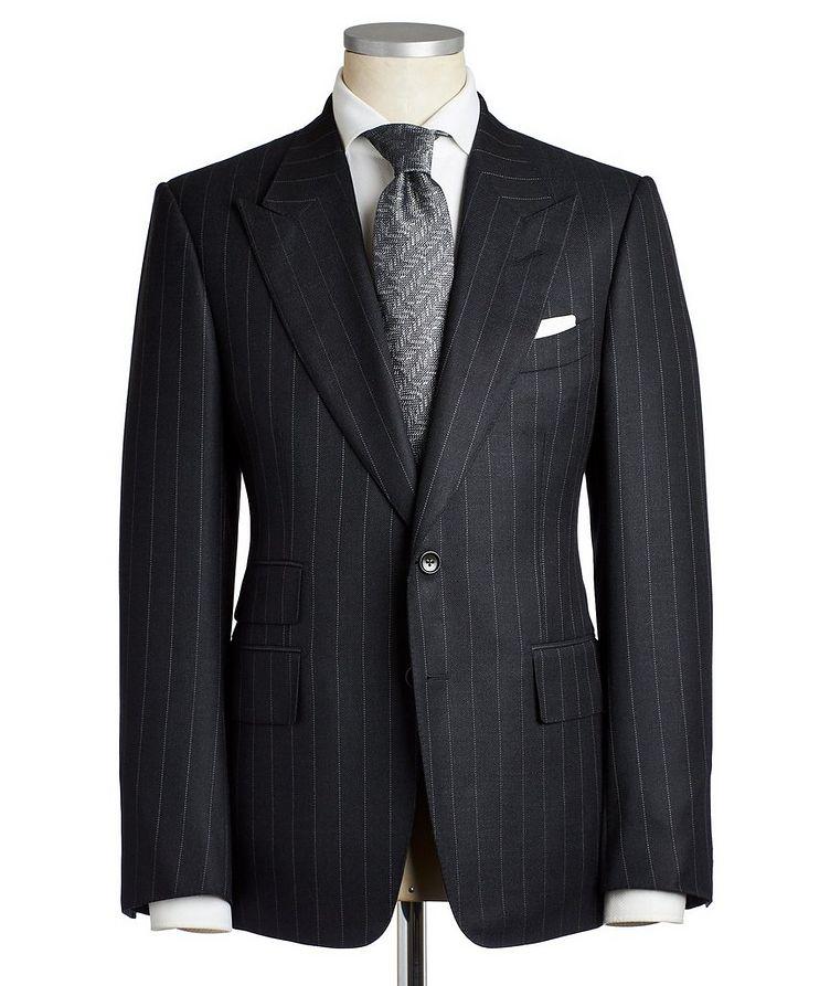 Shelton Pinstriped Wool-Silk Suit image 0