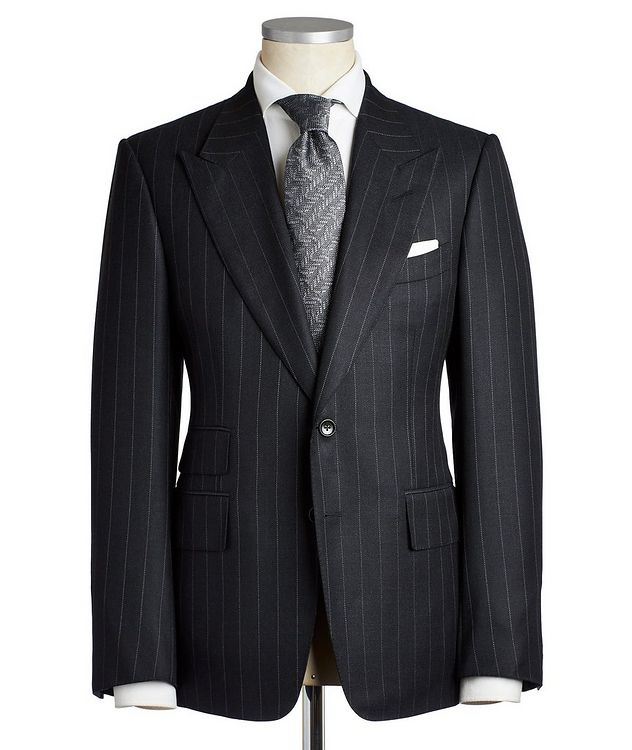 Shelton Pinstriped Wool-Silk Suit picture 1