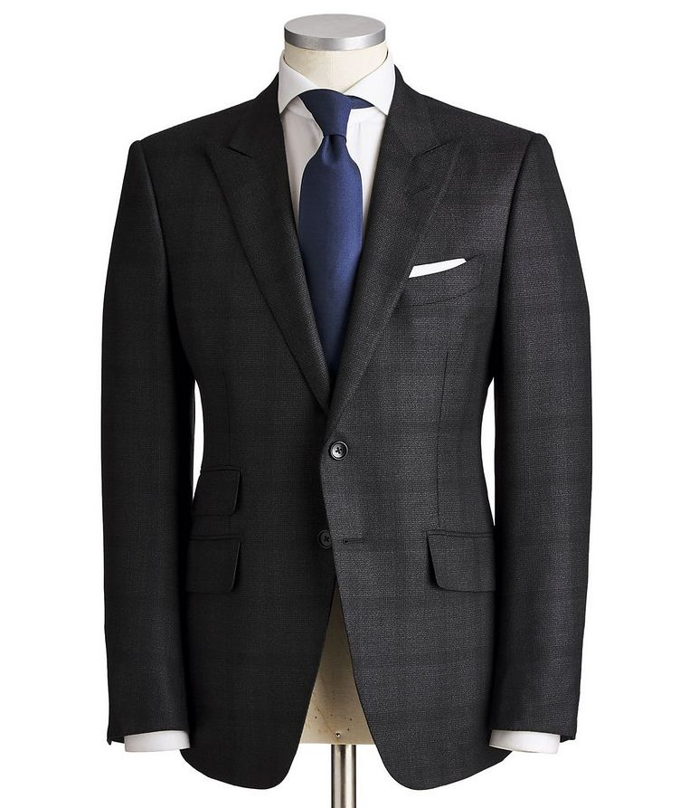 O'Connor Textured Wool-Silk Suit image 0