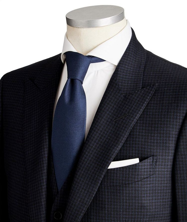 O'Connor Micro-Checked Wool-Silk Suit image 1