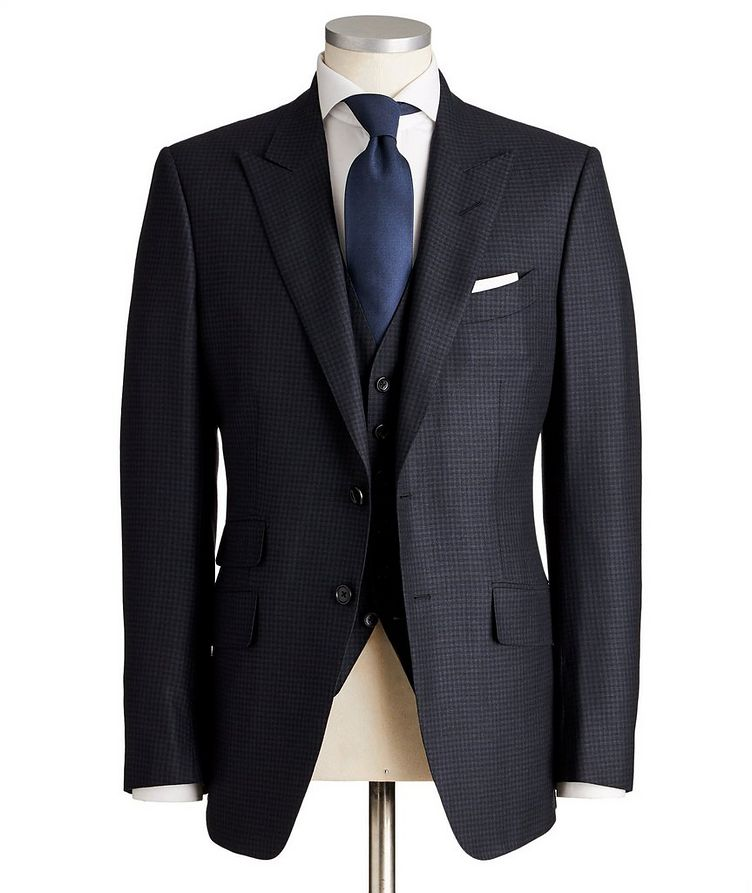 O'Connor Micro-Checked Wool-Silk Suit image 0