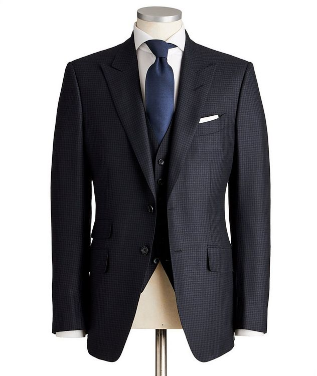 O'Connor Micro-Checked Wool-Silk Suit picture 1