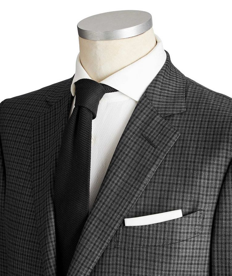 O'Connor Gingham Wool-Silk Suit image 1