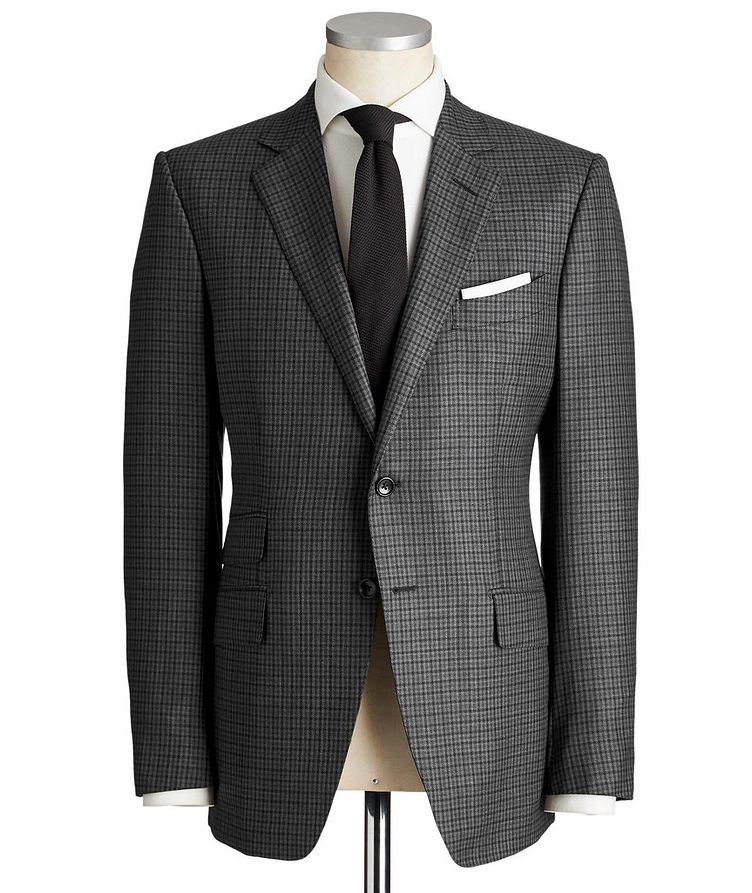 O'Connor Gingham Wool-Silk Suit image 0
