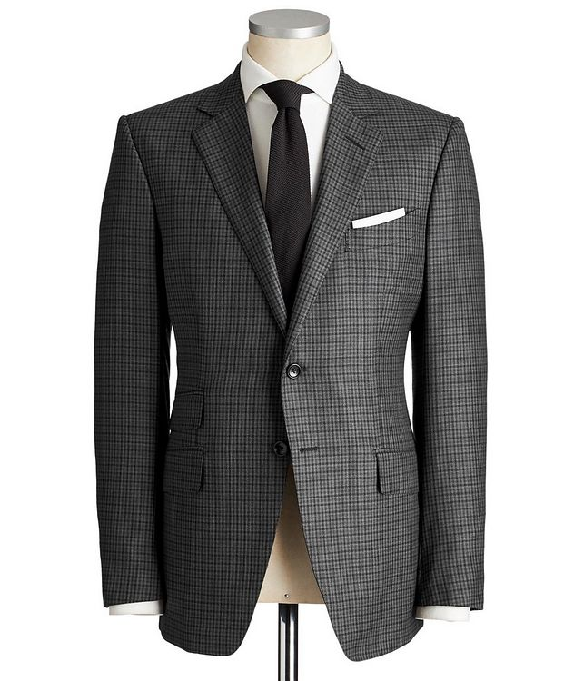 O'Connor Gingham Wool-Silk Suit picture 1