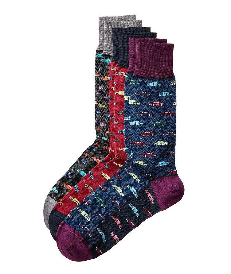 Ensemble de trois paires de chaussettes imprimées image 0