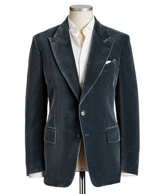 TOM FORD Shelton Velvet Cocktail Jacket