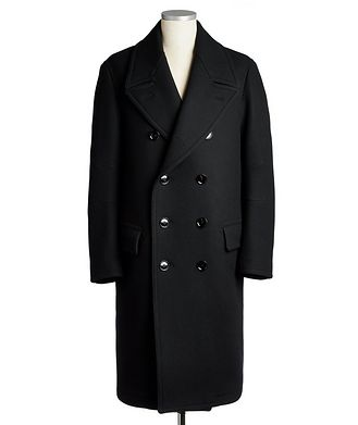 TOM FORD Double-Breasted Japanese Melton Peacoat