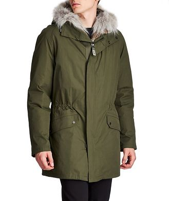 Yves Salomon YS ARMY Water-Repellent Fur-Lined Parka