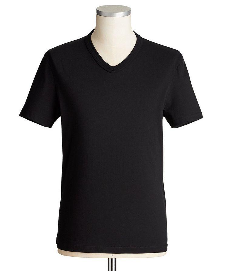 Cotton V-Neck T-Shirt image 0