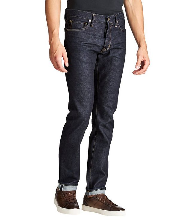 Slim Fit Stretch-Cotton Jeans picture 1
