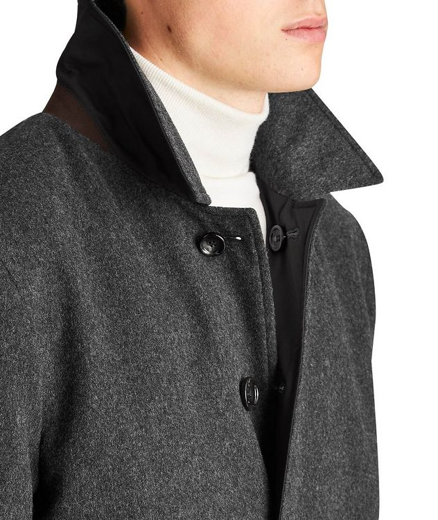 Gofreddo Reversible Green Storm System® Wool Coat picture 3