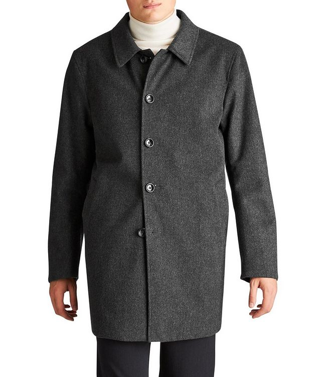 Gofreddo Reversible Green Storm System® Wool Coat picture 1